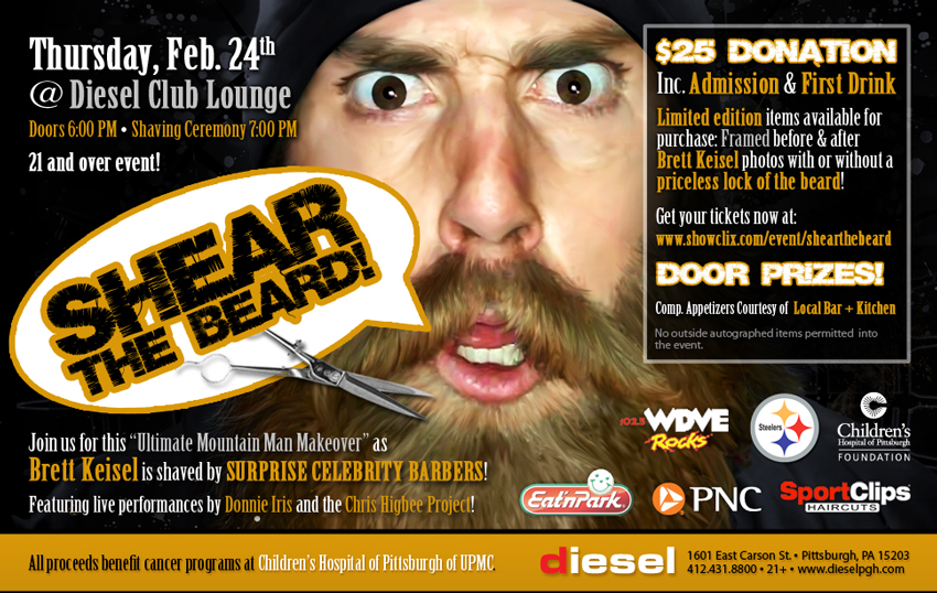 Tickets for SHEAR THE BEARD with Brett Keisel in PITTSBURGH from ShowClix
