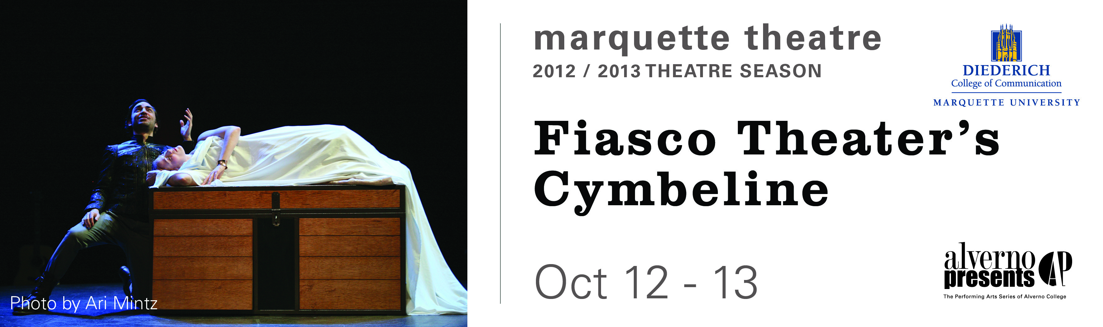 Tickets for Fiasco Theater's Cymbeline in Milwaukee from ShowClix