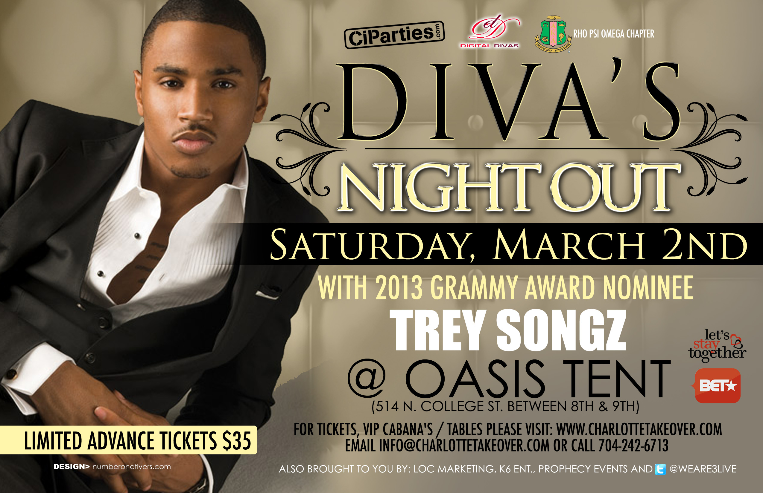 Tickets for Divas Night Out Feat Trey Songz in Charlotte from blender