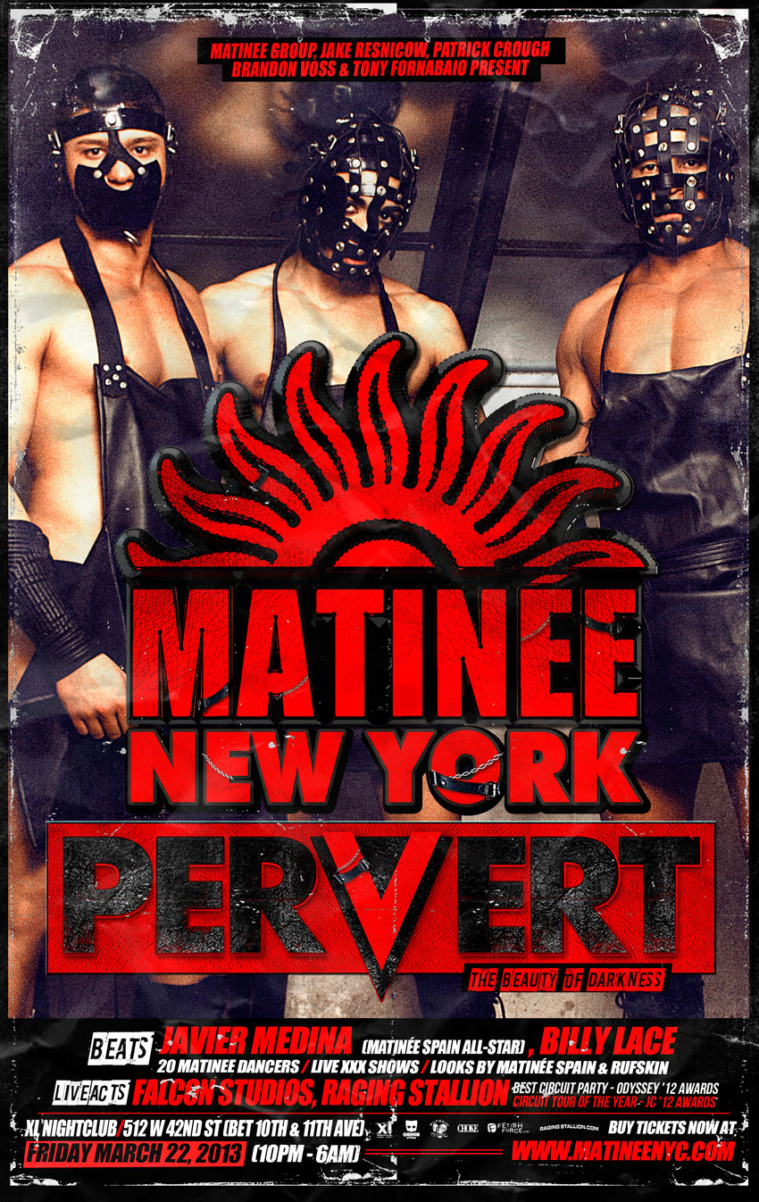Tickets for MATINEE NEW YORK: PERVERT in New York from ShowClix