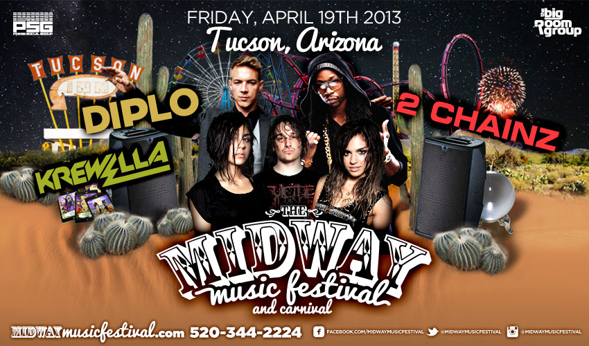 Tickets for MIDWAY MUSIC FESTIVAL & CARNIVAL in Tucson from ShowClix