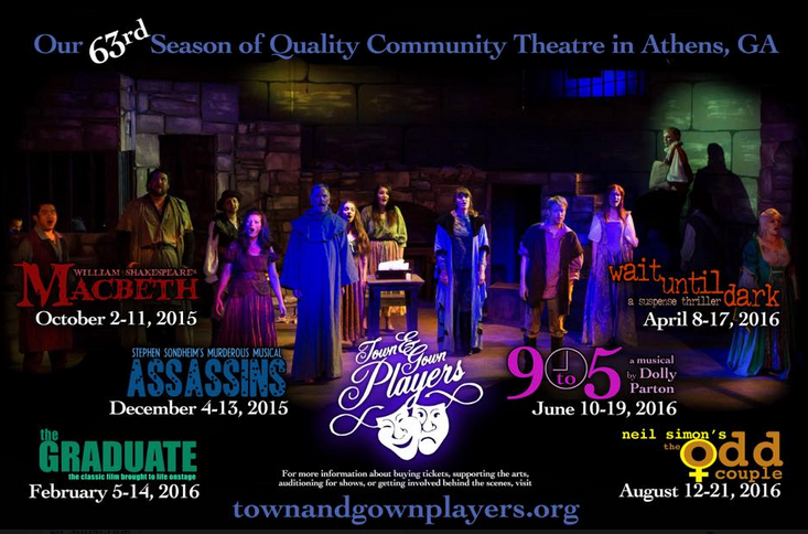 Find tickets from Town & Gown Players