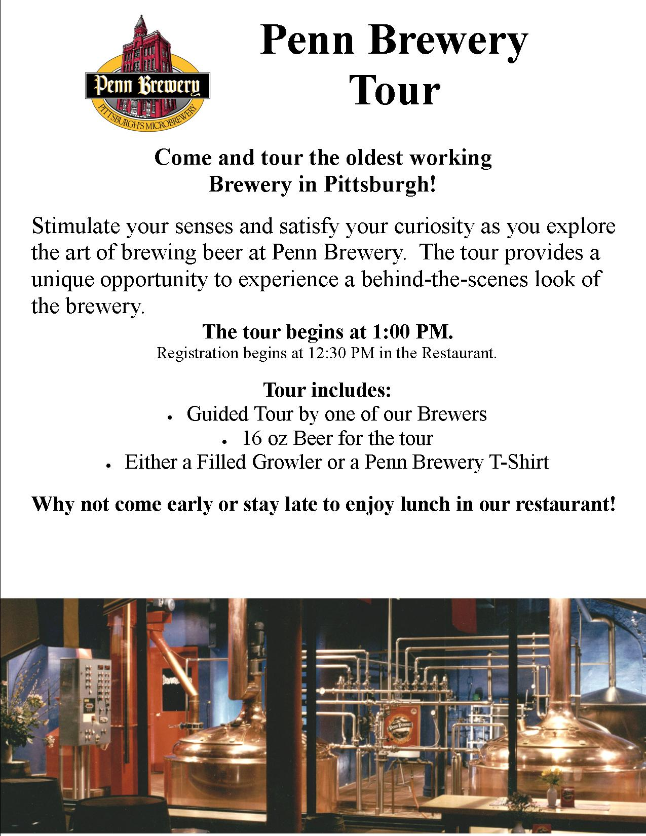 Tickets for Penn Brewery Tour February 20 in Pittsburgh from ShowClix