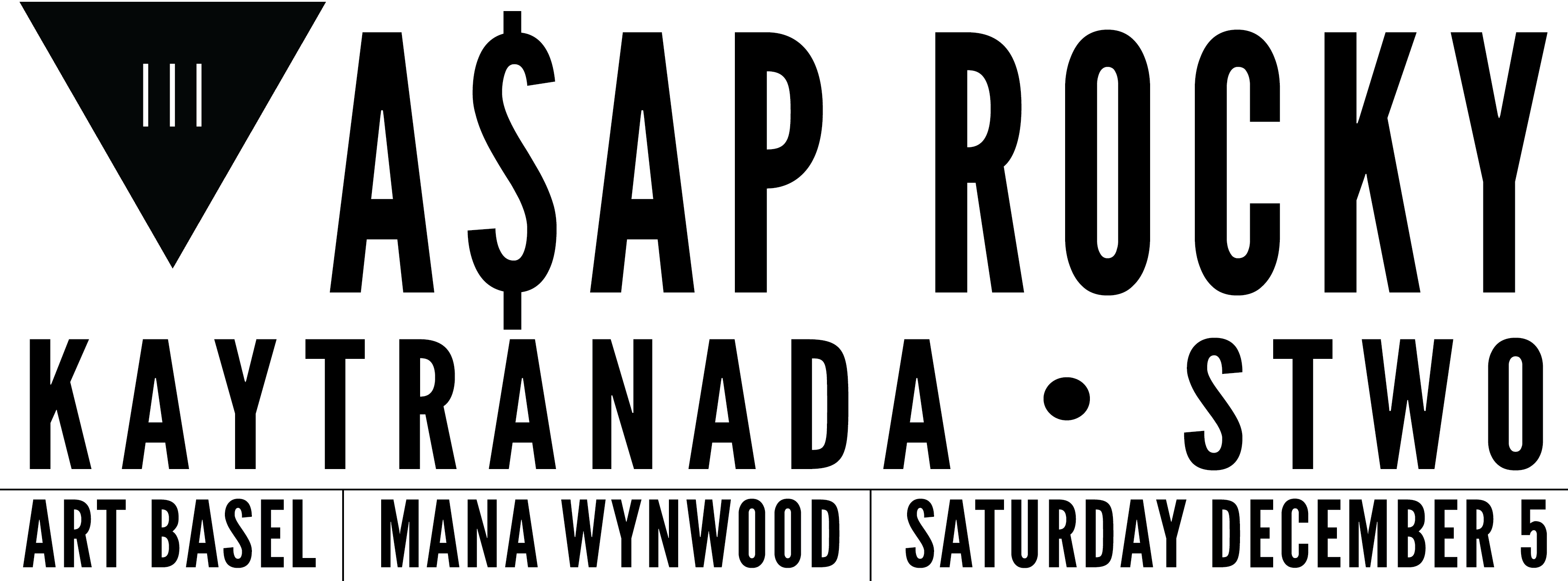 Tickets for A$AP Rocky & Kaytranada & STWO | Art Basel | 12.5 in Miami from ShowClix