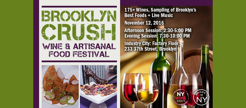 Tickets for Brooklyn Crush Wine & Artisanal Food Festival in Brooklyn from ShowClix