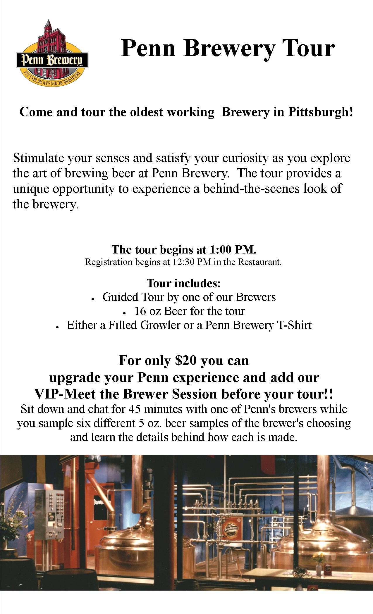 Tickets for Penn Brewery Tour - June 20 in Pittsburgh from ShowClix