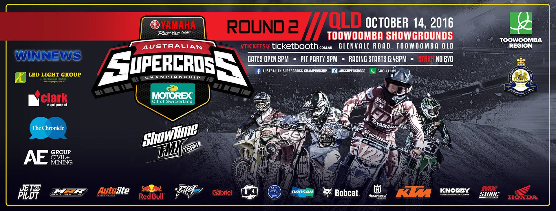 Tickets for Australian Supercross Championships 2016 - Toowoomba - Round 2 in Toowoomba from Ticketbooth