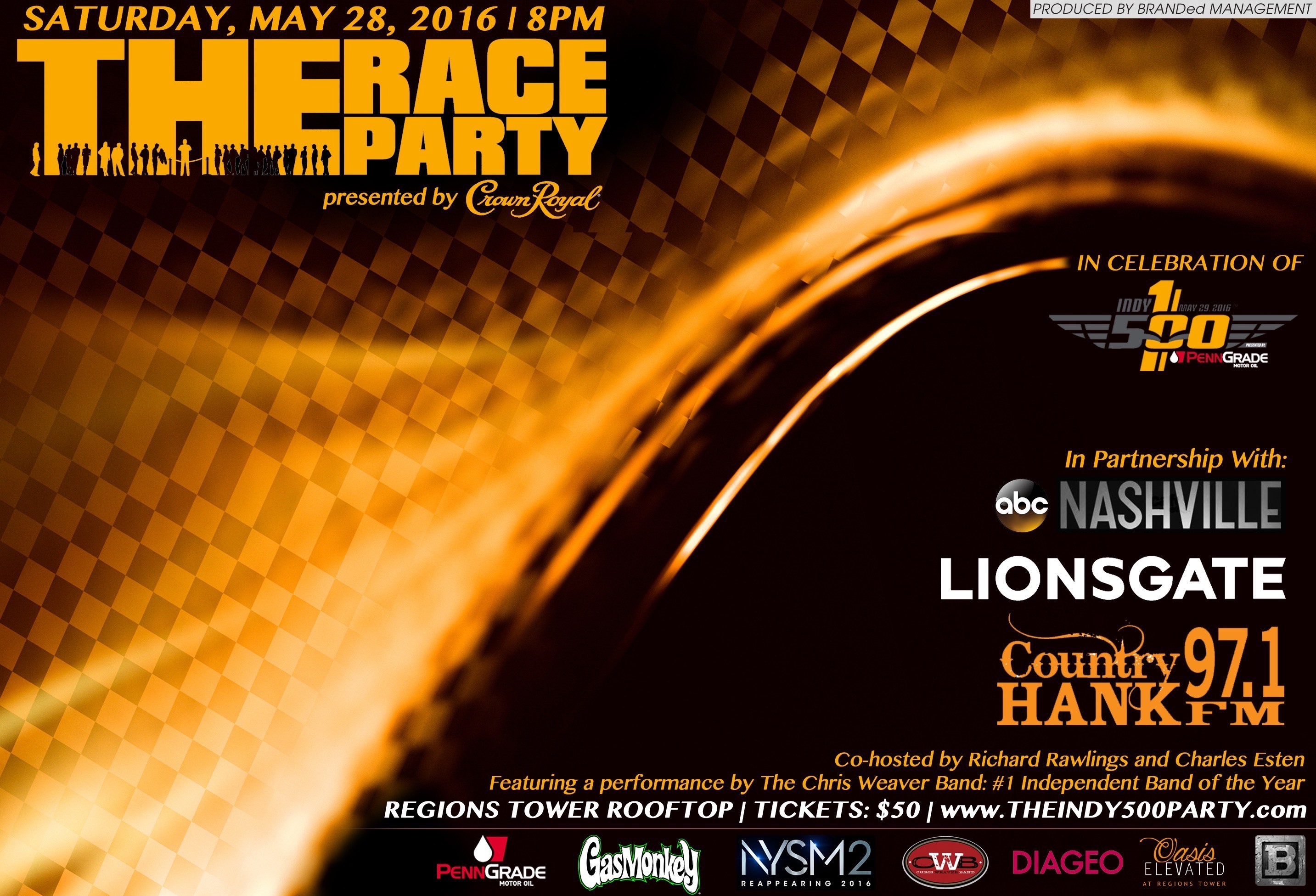 Tickets for THE RACE PARTY Presented by CROWN ROYAL in Indianapolis from ShowClix