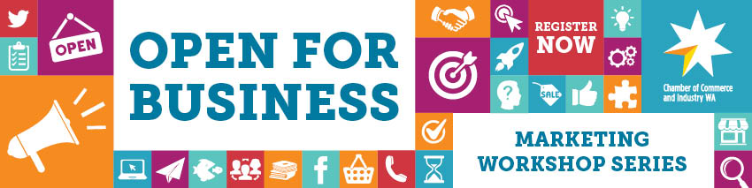 Tickets for Open for Business Marketing Workshop in East Perth from Ticketbooth