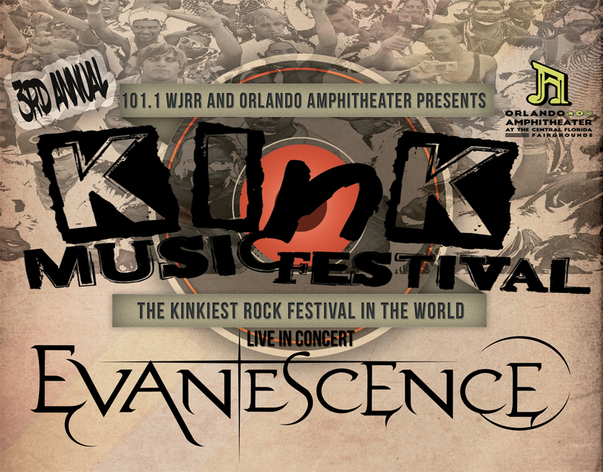 Tickets for Evanescence VIP at Kink Music Festival in Orlando from Artist Arena