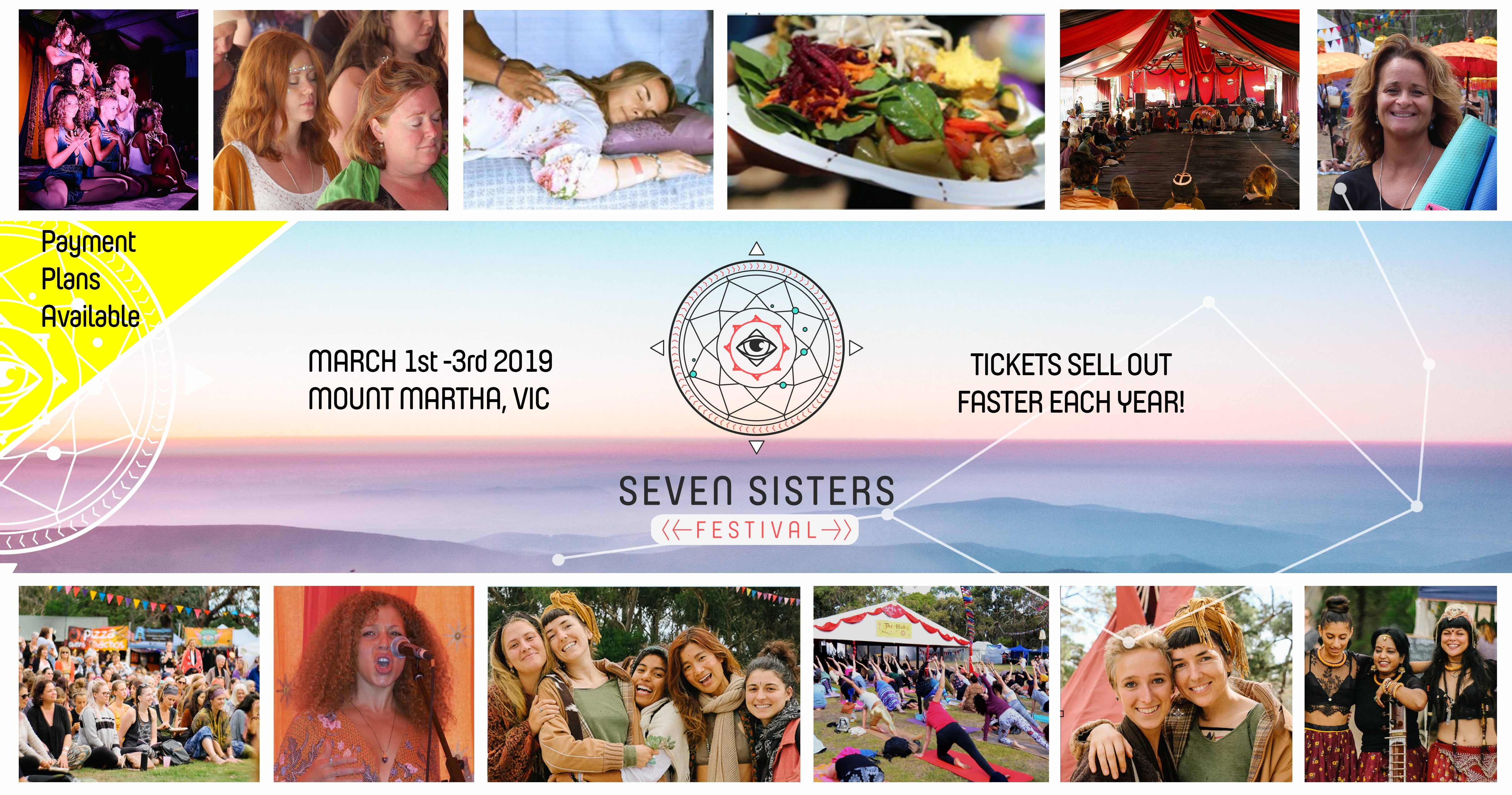 Tickets for Seven Sisters Festival Accommodation and Extras in Mt Martha from Ticketbooth