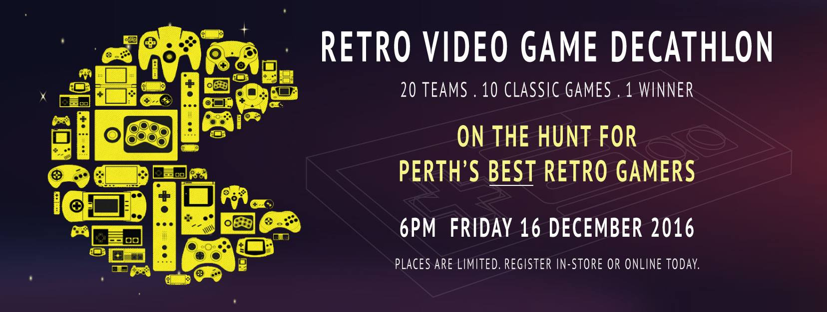 Tickets for Retro Video Game Decathlon in Perth from Ticketbooth