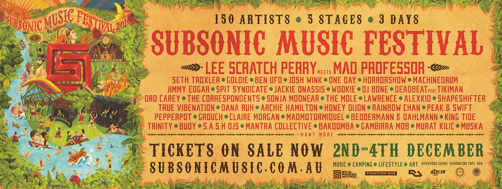 Tickets for Subsonic Music Festival 2016 in Monkerai from Ticketbooth