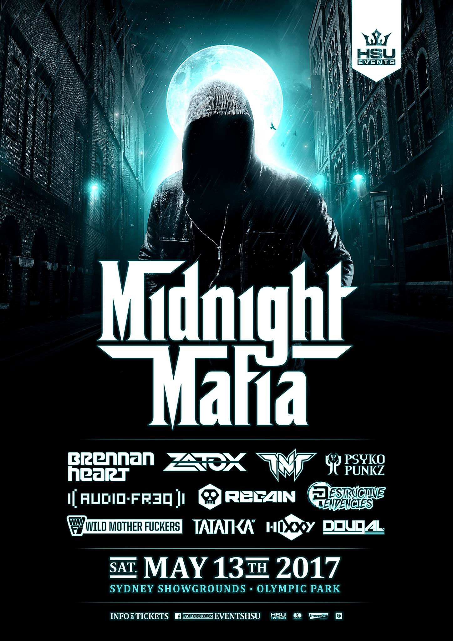 Tickets for Midnight Mafia 2017 in Sydney Olympic Park from Ticketbooth