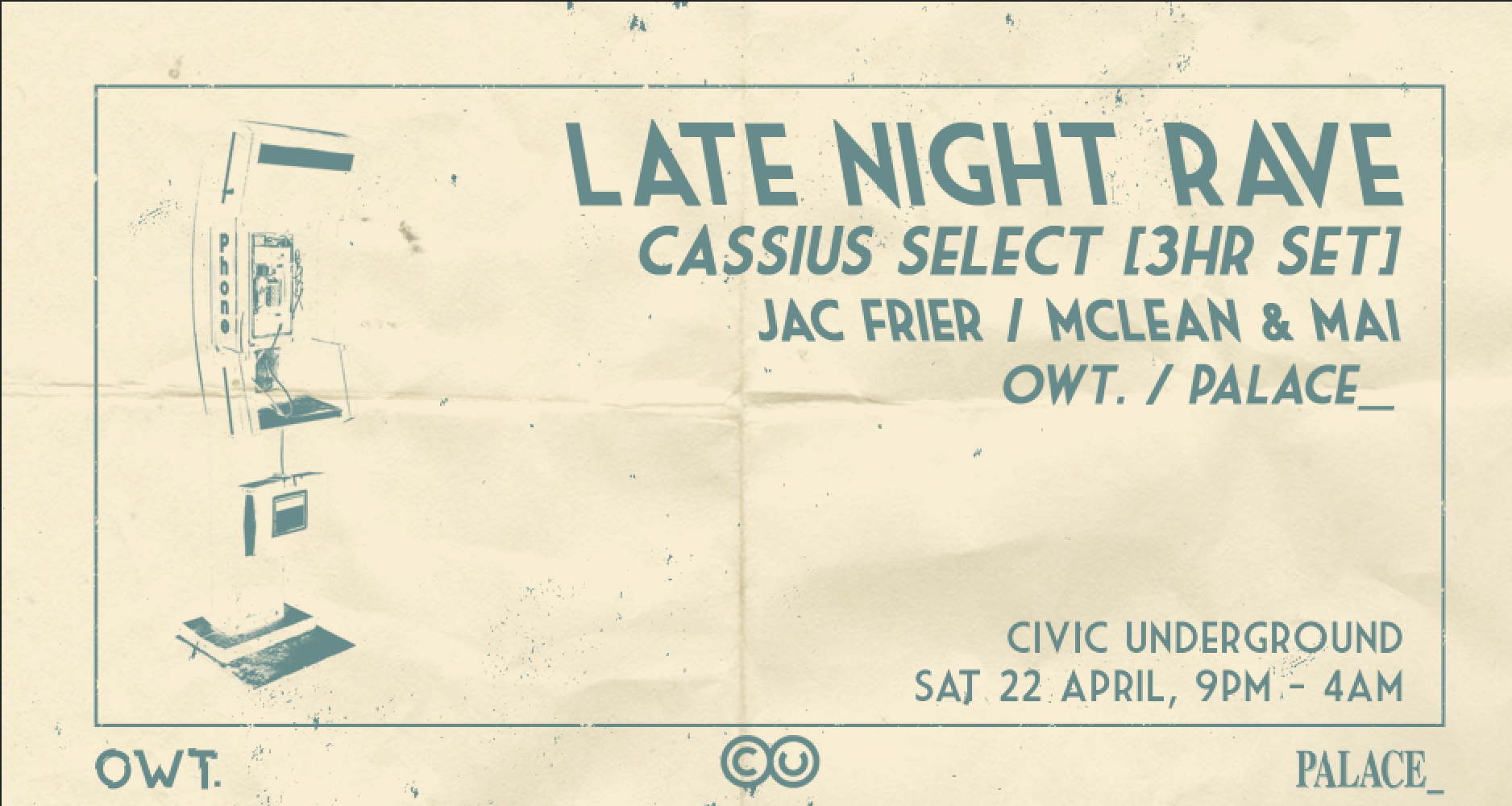 Tickets for LATE NIGHT RAVE w/ Cassius Select (3hr Set) in Sydney from Ticketbooth