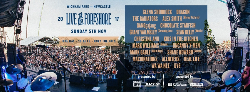 Application for LIVE AT THE FORESHORE 2017 in Newcastle from Ticketbooth