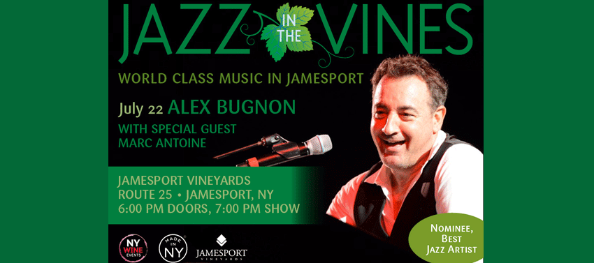 Tickets for Jazz in the Vines: Alex Bugnon, with special guest Marc Antoine in Jamesport from ShowClix