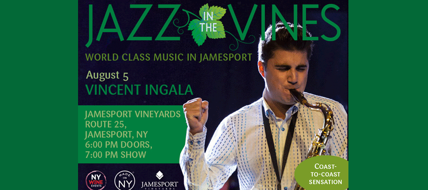 Tickets for Jazz in the Vines: Vincent Ingala in Jamesport from ShowClix