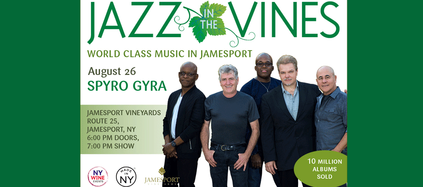 Tickets for Jazz in the Vines: Spyro Gyra in Jamesport from ShowClix