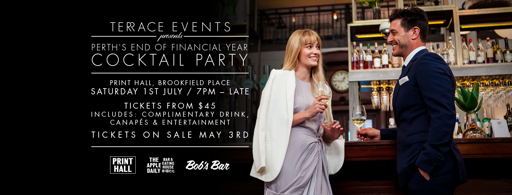 Tickets for Perth's End of Financial Year Cocktail Party in Perth from Ticketbooth