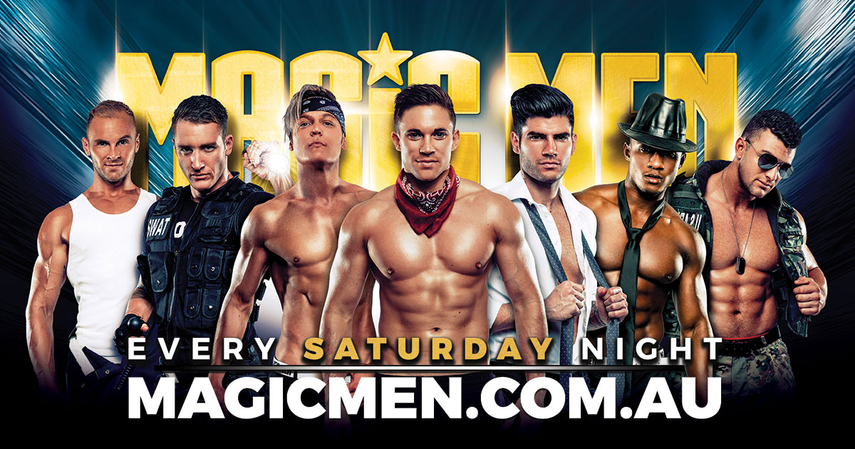 Tickets for MAGIC MEN FEEL THE MAGIC in Prahran from Ticketbooth