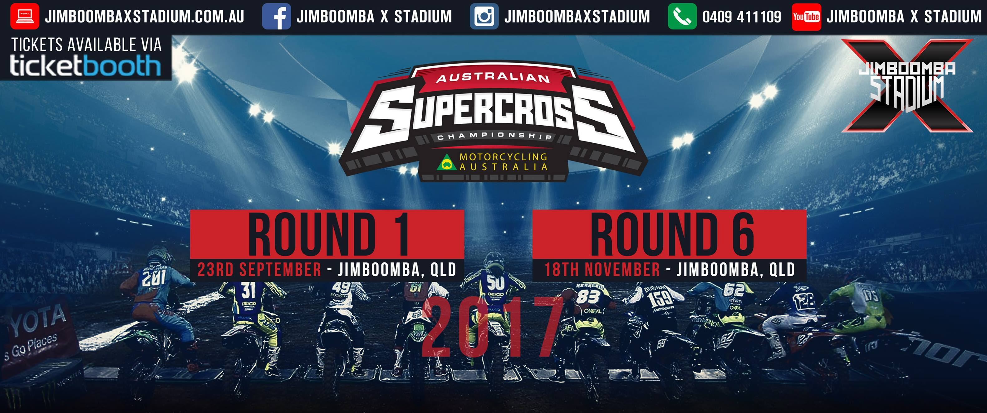 Tickets for 2017 Australian Supercross Championship: Round 1 Jimboomba in Jimboomba from Ticketbooth