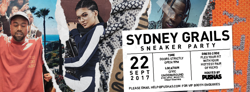 Tickets for SYDNEY GRAILS / SNEAKER PARTY (18+) in Sydney from Ticketbooth