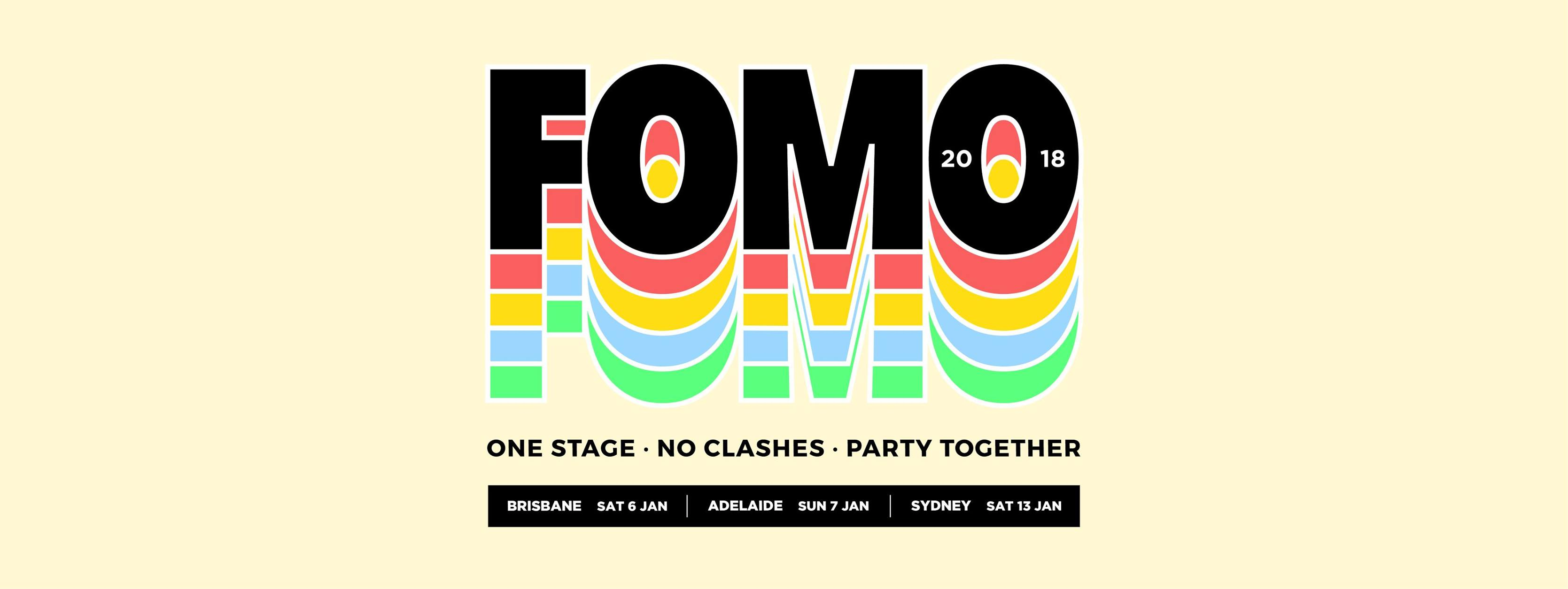 Application for FOMO 2018 - AUSTRALIA WIDE from Ticketbooth
