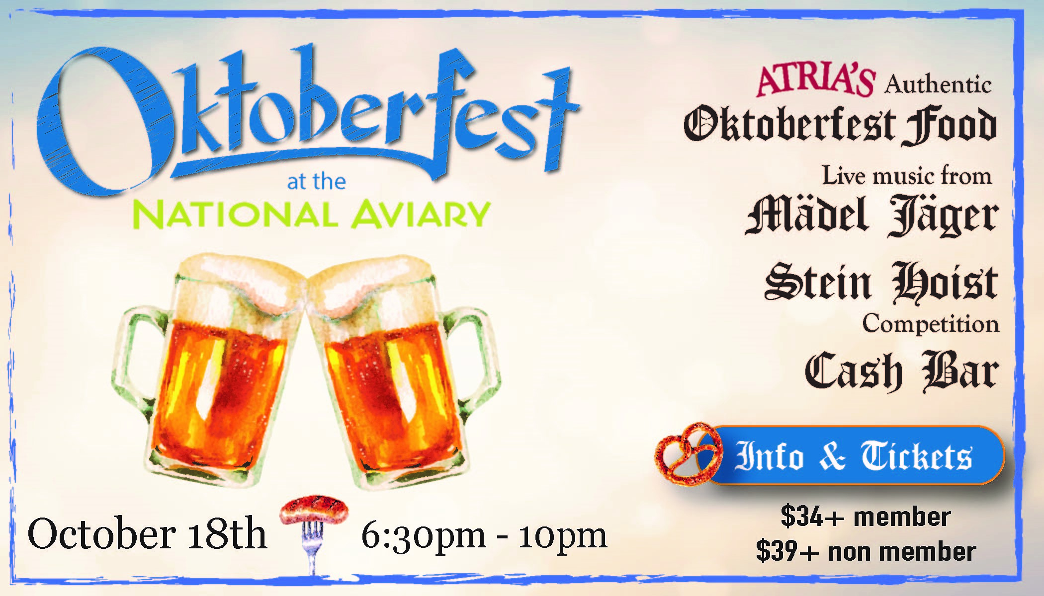 Tickets for Oktoberfest at the National Aviary (21+) in Pittsburgh from ShowClix