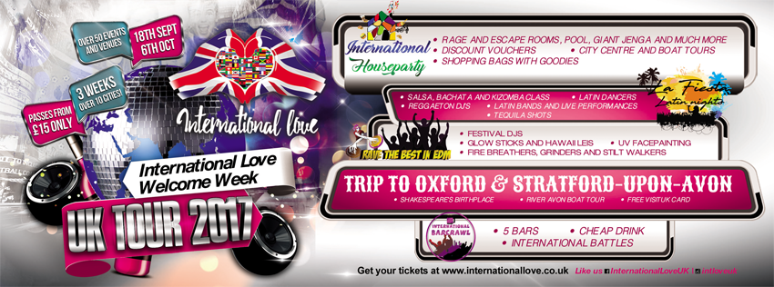 Tickets for international love welcome week leicester in leicester tickets for international love welcome week leicester in leicester from ticketbooth europe malvernweather Choice Image