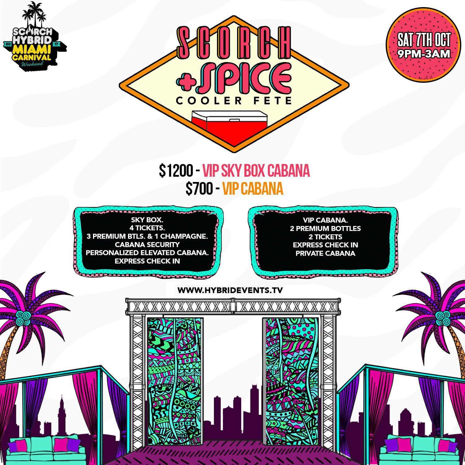 Tickets for SCORCH + SPICE in Miami from ShowClix