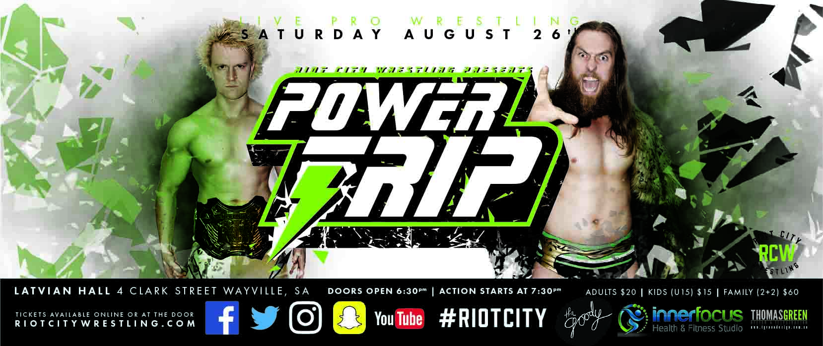 Tickets for Riot City Wrestling: Powertrip 2017 in Wayville from Ticketbooth