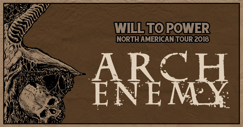 Tickets for Arch Enemy VIP Experience at Vinyl Music Hall in Pensacola from Artist Arena