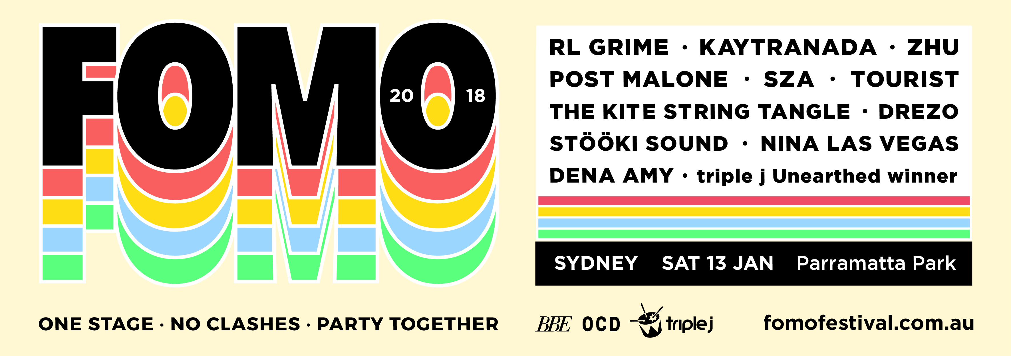 Tickets for FOMO [SYDNEY] 2018 - SOLD OUT in Parramatta Park from Ticketbooth