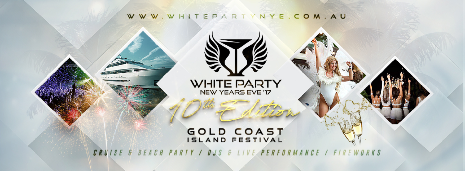 Tickets for White Party NYE 17 GoldCoast Island festival in Main Beach from Ticketbooth