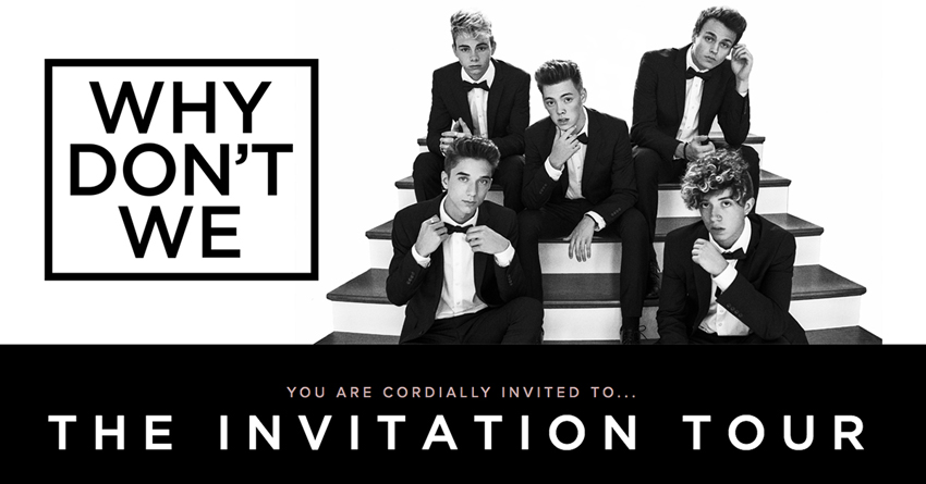Tickets for Why Don't We Limelight Upgrades at Tabernacle in Atlanta from Warner Music Group