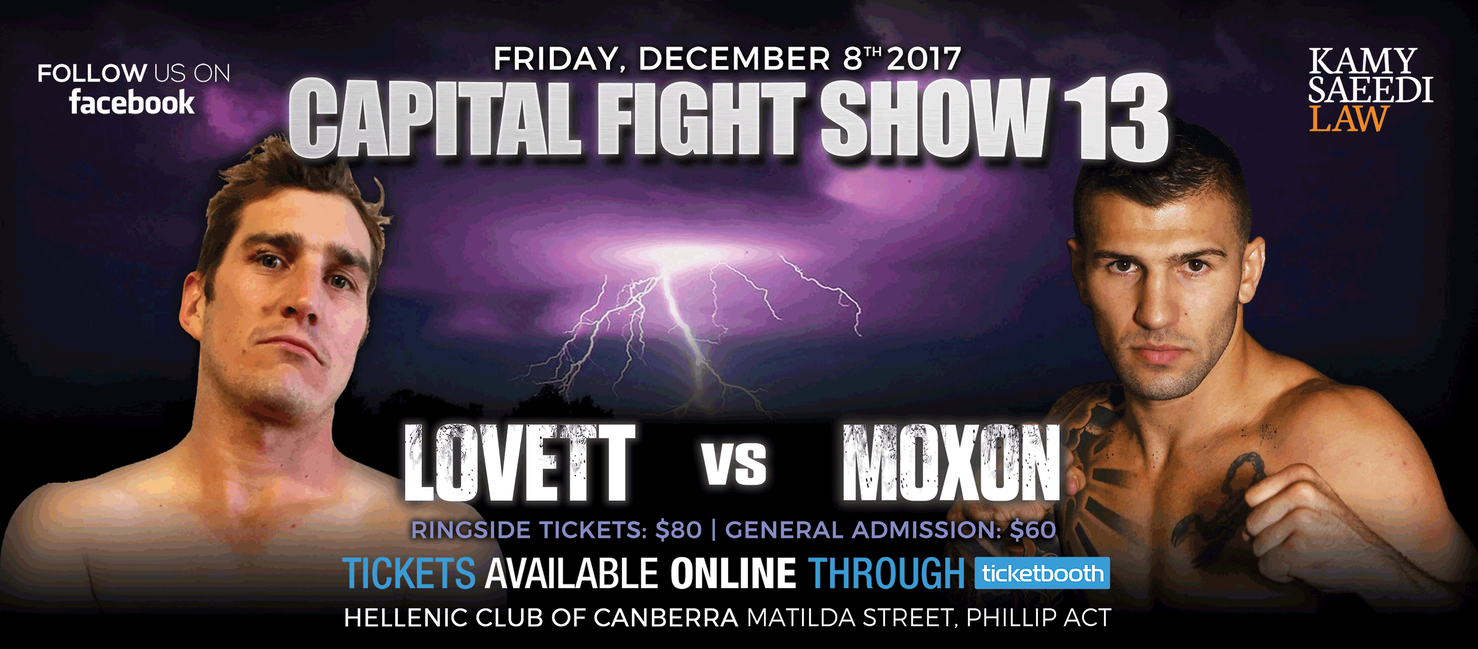 Tickets for Capital Fight Show 13 in Phillip from Ticketbooth