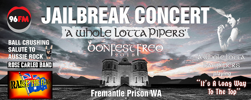 Tickets for Jailbreak Concert - A Whole Lotta Pipers in Fremantle from Ticketbooth