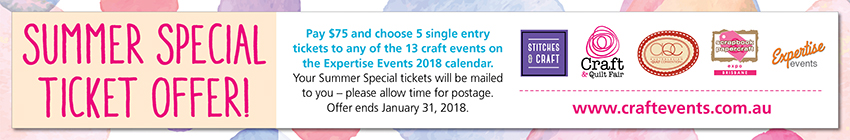Tickets for Summer 2018 Craft Event Ticket Special from Ticketbooth