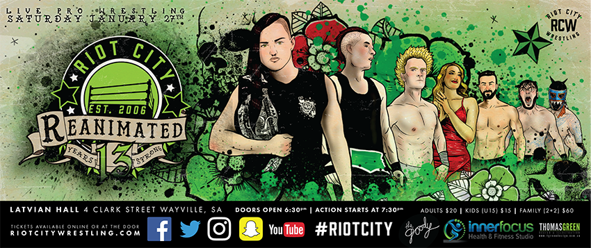 Tickets for Reanimated 2018 - Riot City Wrestling in Wayville from Ticketbooth