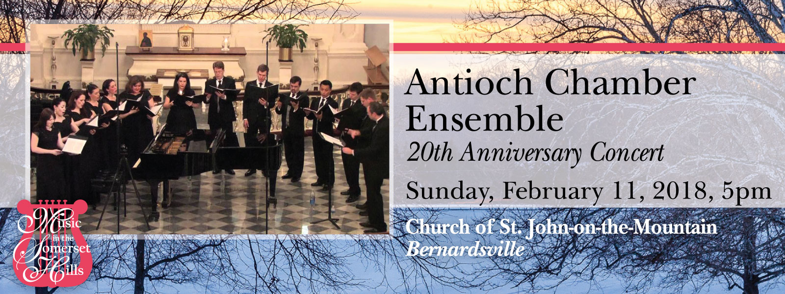 Tickets for Antioch Chamber Ensemble: 20th Anniversary Concert in Bernardsville from ShowClix