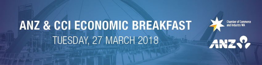 Tickets for ANZ & CCI Economic Breakfast in Perth from Ticketbooth