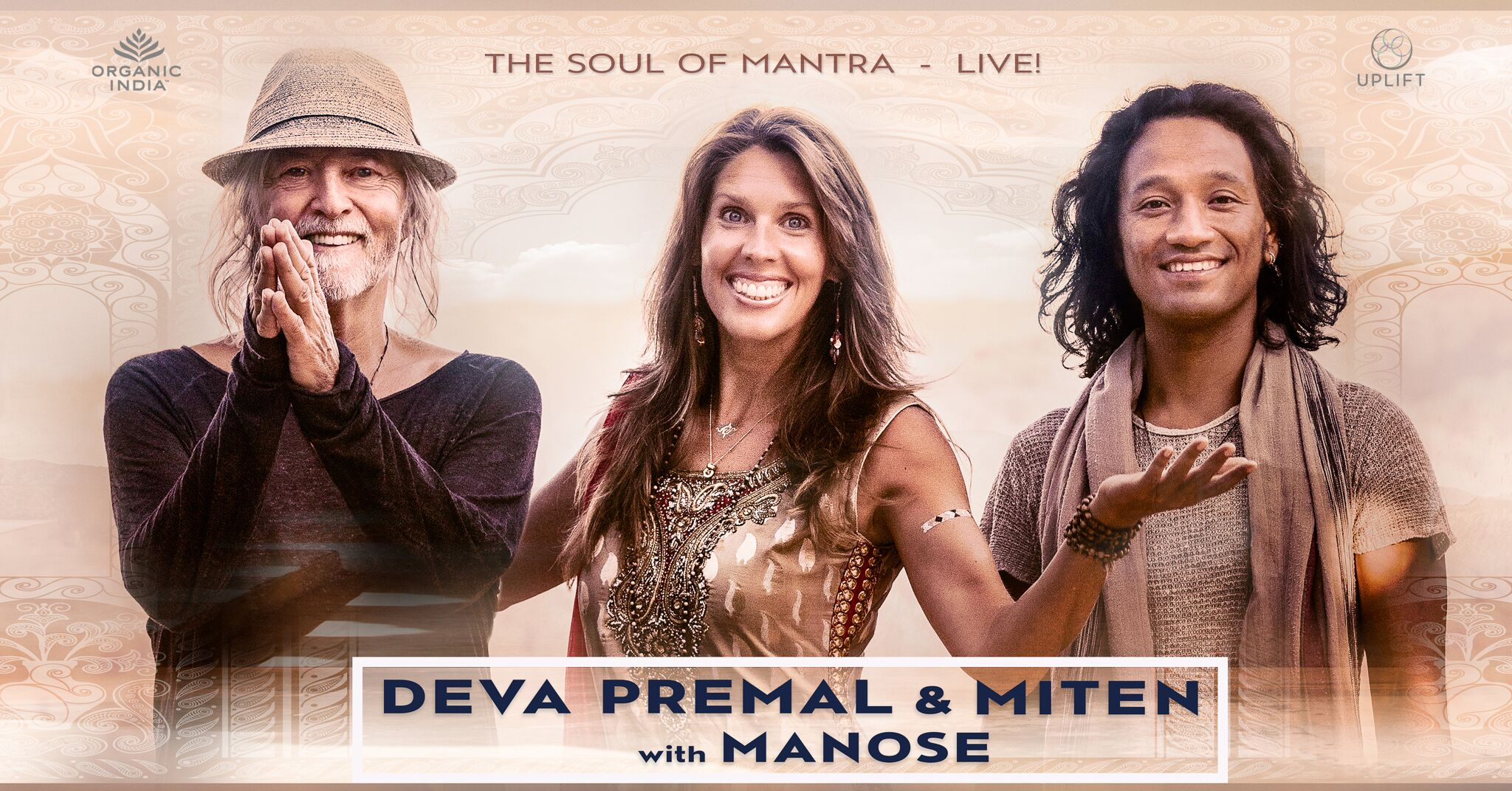 Tickets for SOLD OUT:  Deva Premal & Miten with Manose  (Sarasota, FL) in Sarasota from BrightStar Live Events