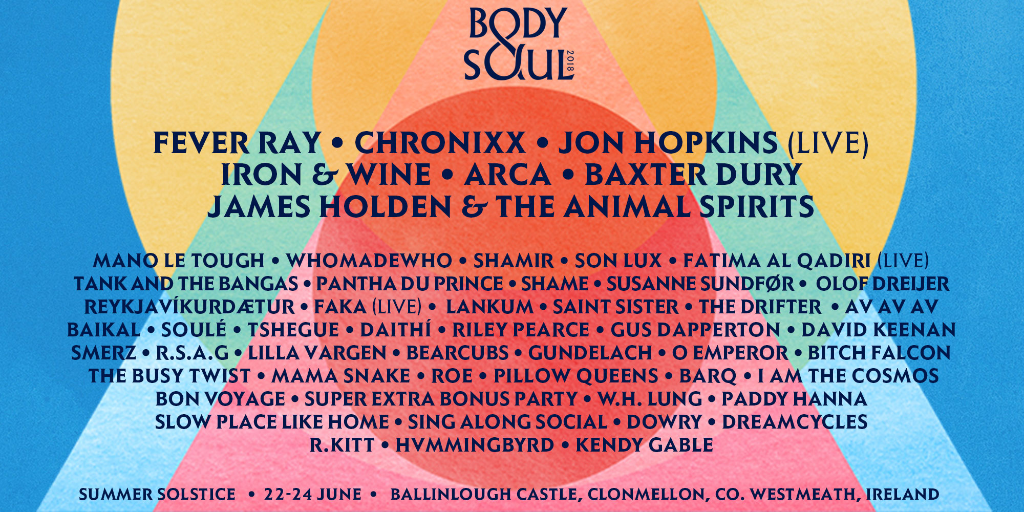 Tickets for Body&Soul 2018 - Campervan Ticket in Co.Westmeath from Ticketbooth Europe
