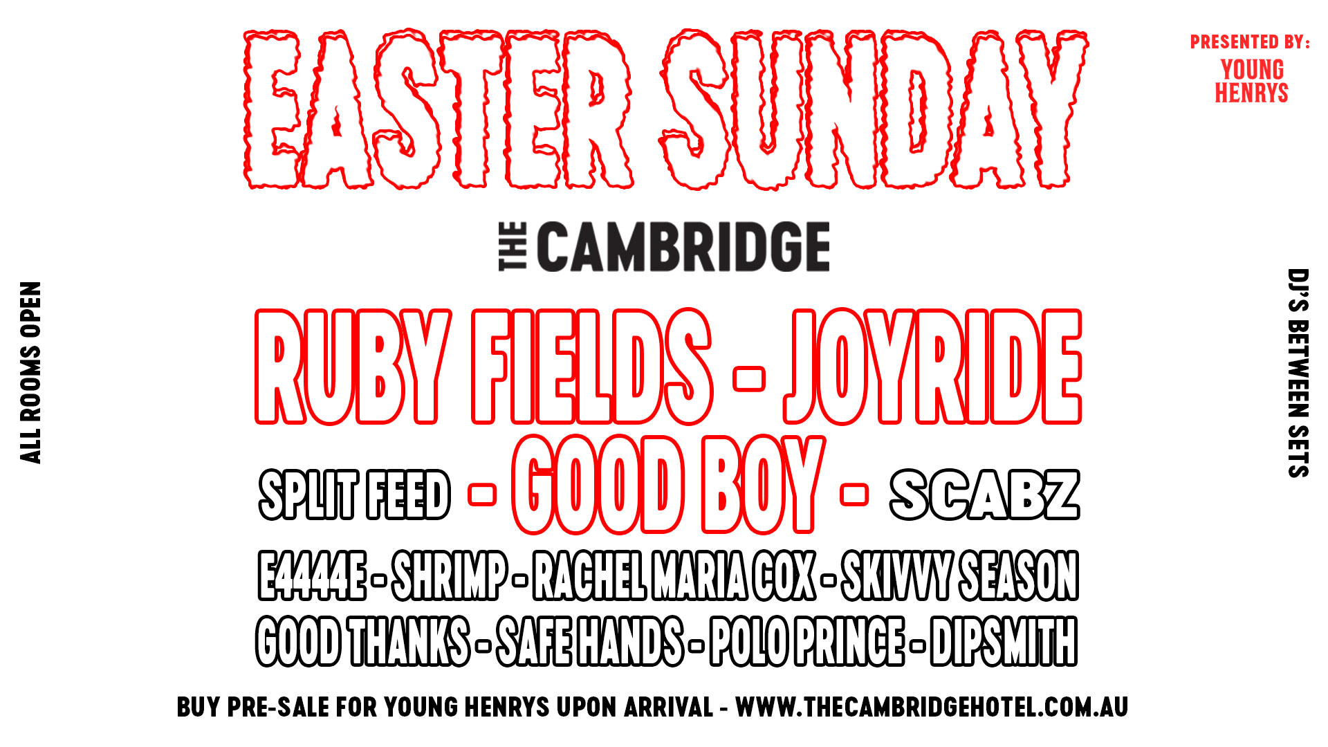 Tickets for EASTER SUNDAY at The Cambridge in Newcastle from Ticketbooth