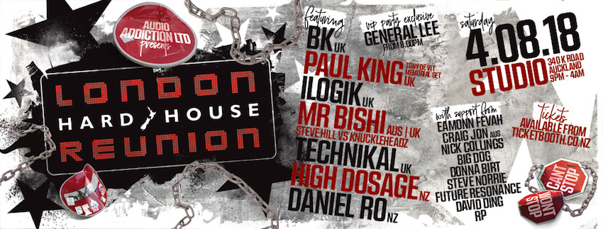Tickets for London Hard House Reunion 2018 in Auckland from Ticketbooth New Zealand