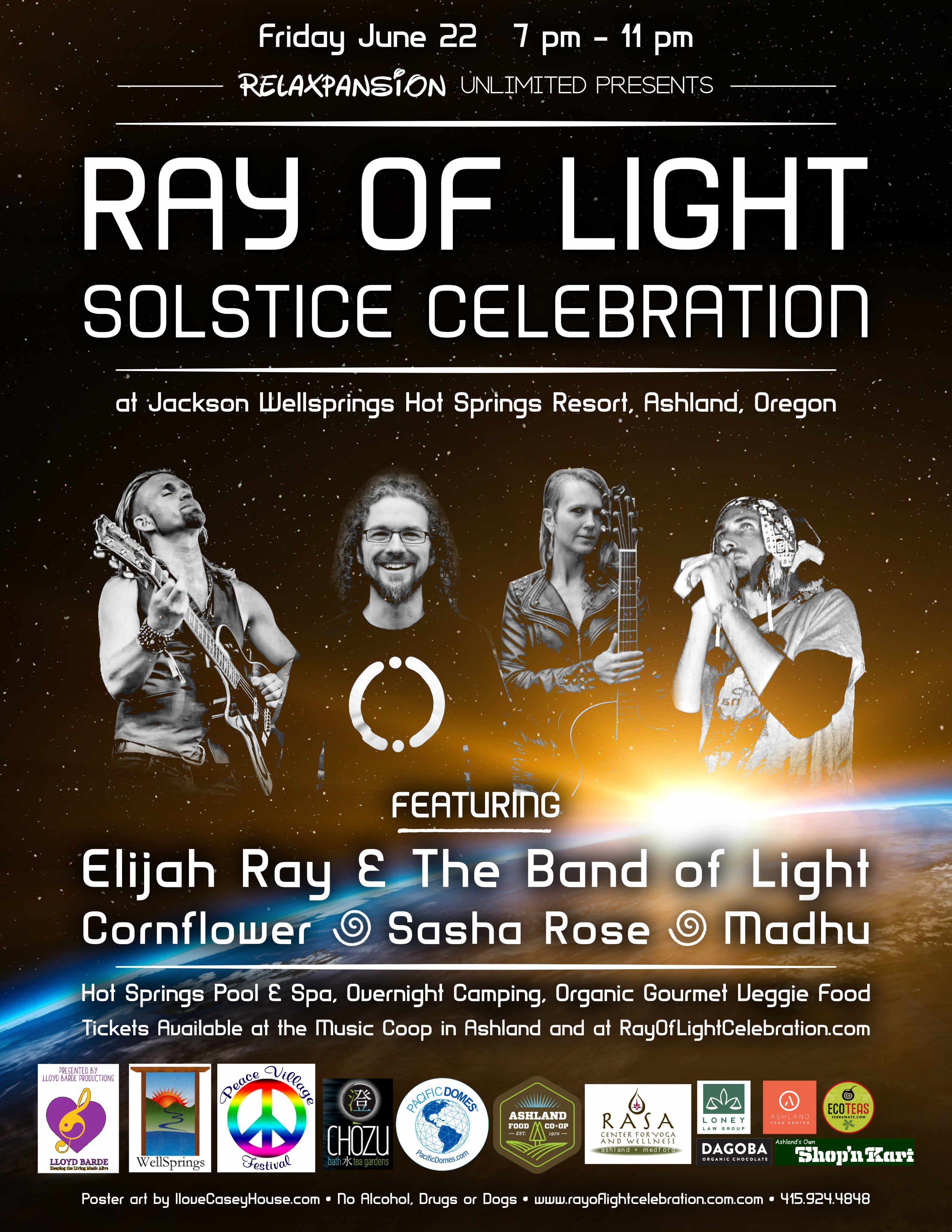 Tickets for Ray of Light Solstice Celebration: Elijah Ray, Sasha Rose, Cornflower, Madhu in Ashland from BrightStar Live Events