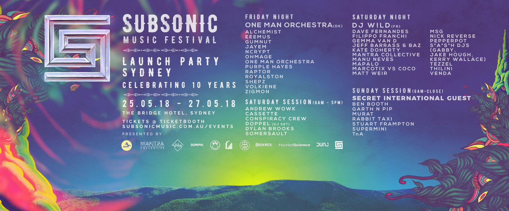 Tickets for Subsonic Music Festival 2018 Launch Party