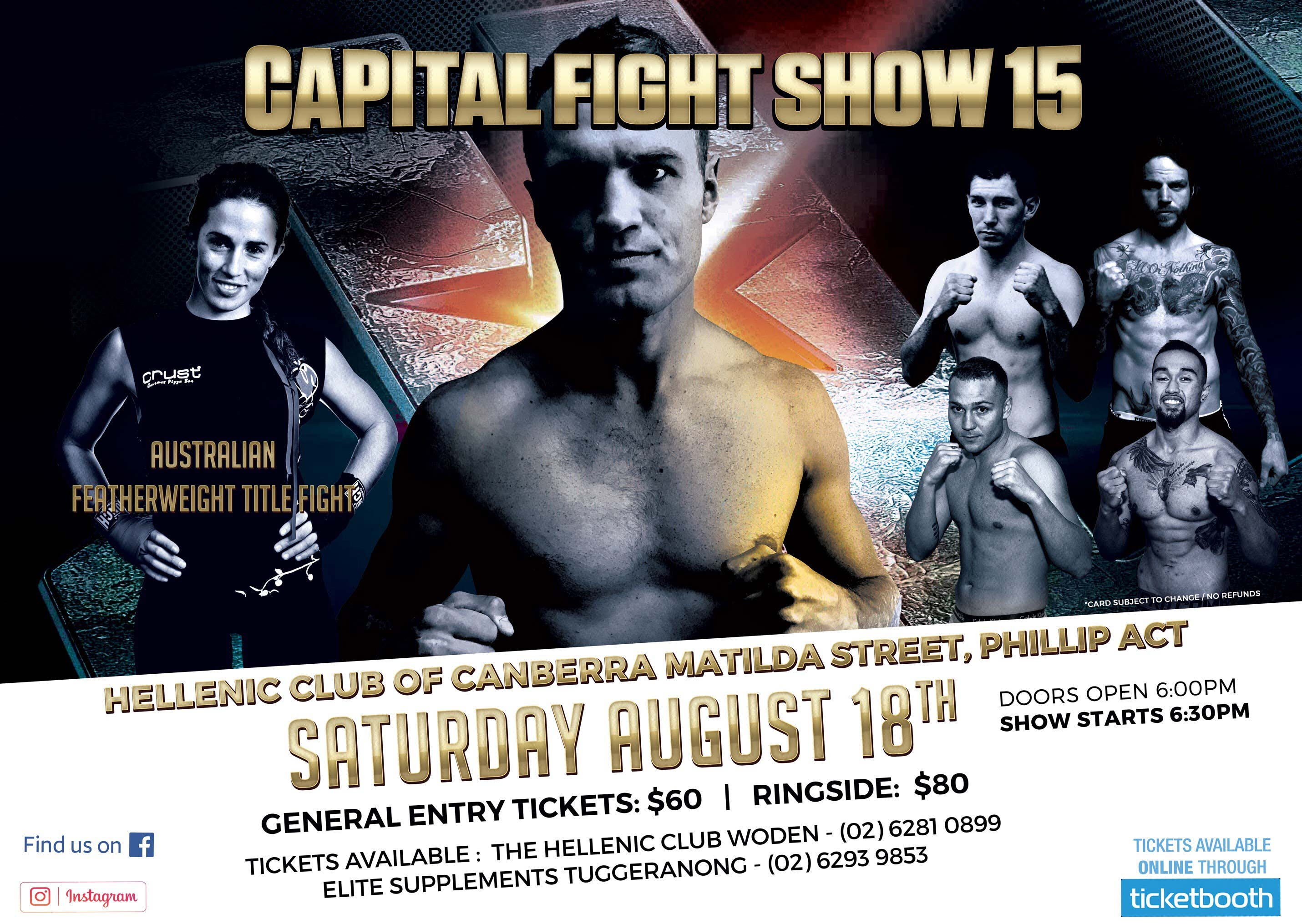 Tickets for Capital Fight Show 15 in Woden from Ticketbooth