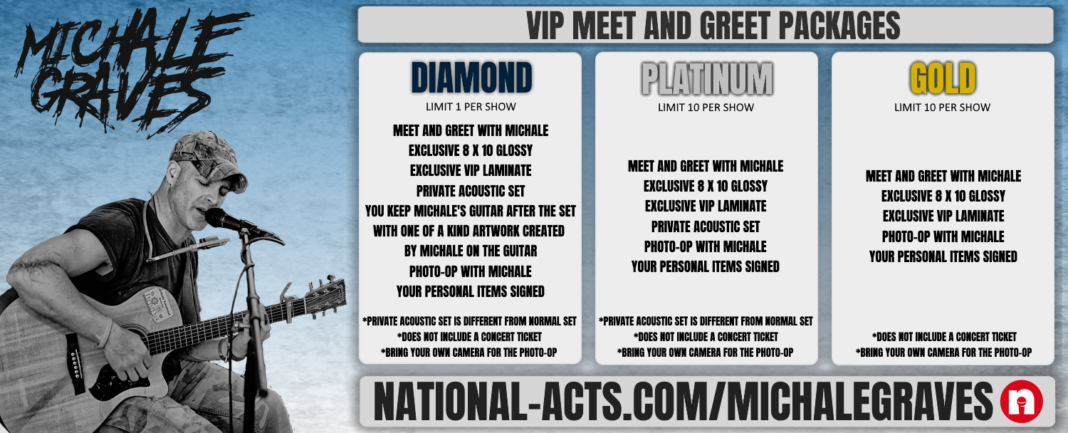 Tickets for Michale Graves VIP - Southampton, UK in Southampton from National Acts Inc.